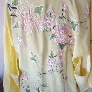 Silk kimono 1960's Japanese robe NWOT
